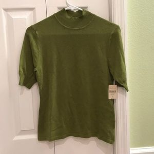 🔴 Coldwater Creek XS green mockneck sweater